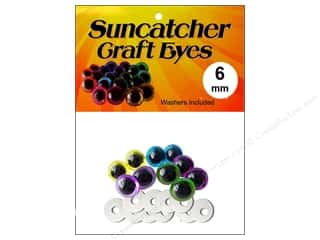 eyes w/ washer: Suncatcher Craft Eyes Translucent 6mm Pastel 5pr