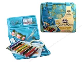 Yarn & Needlework Blue: DMC StitchBow Needlework Travel Bag Blue Print