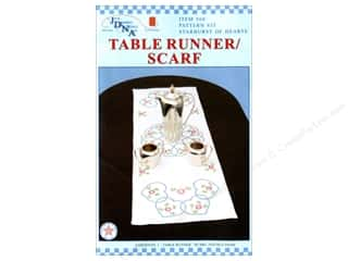 Stamped Goods Stamped Tablecloths: Jack Dempsey Table Runner/Scarf Starburst Hearts