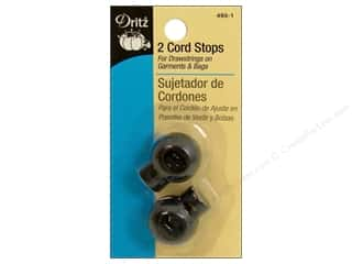 Cord Stops by Dritz Round Black 2pc.