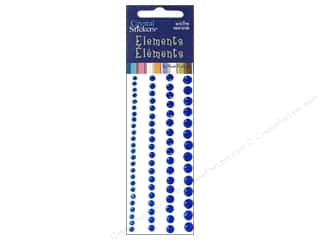 Rhinestones $6 - $25: Mark Richards Crystal Sticker Round 3-6mm Blue