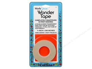 Tapes inches: Wash Away Wonder Tape by Collins 1/4 in. x 10 yd.
