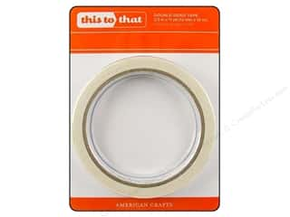 Glue and Adhesives Length: American Crafts This To That Double Sided Tape 1/2 in. x 11 yd.