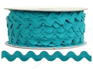 Ribbon Work Tapes: Ric Rac by Cheep Trims  1/2 in. Turquoise (24 yards)