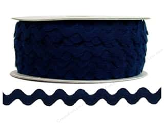 Ribbon Work Tapes: Ric Rac by Cheep Trims  1/2 in. Navy (24 yards)