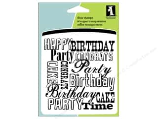 Inkadinkado Inkadinkado Clear Stamp Blocks: Inkadinkado InkadinkaClings Clear Stamp Mini Birthday Words