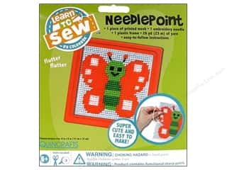 Embroidery Kid Crafts: Colorbok Learn To Kit Needlepoint Butterfly