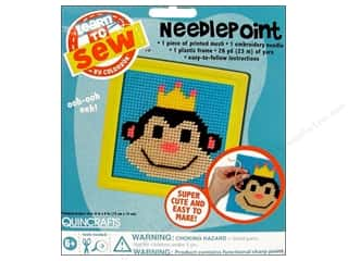 Colorbok Learn To Kit Needlepoint Monkey