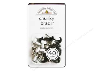 Doodlebug Brads Chunky Tuxedo 40pc