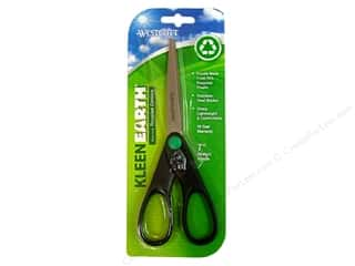 "Scissors 10"": Westcott Scissor 7"" KleenEarth Straight Black"