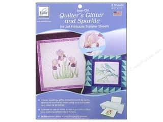 June Tailor 3 Sheets: June Tailor Quilter's Glitter and Sparkle Inkjet Transfer Sheets 2 pc.