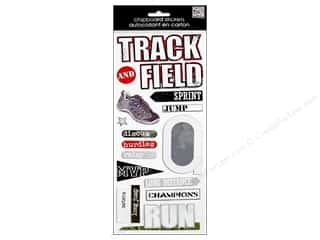 MAMBI Sticker Chipboard Kay Track&amp;Field