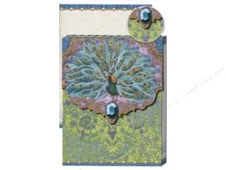 Note Cards Punch Studio Note Pad: Punch Studio Pocket Note Pad Glitter Peacock