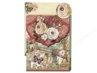 Punch Studio Pocket Note Pad Glitter Roses Bfly
