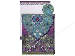 Punch Studio Pocket Note Pad Glitter Purple &amp; Turquoise
