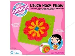 Colorbok You Design It Kit Latch Hook Pillow Flwr