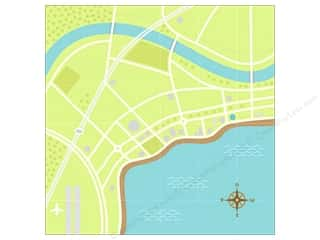 Doodlebug 12 in: Doodlebug Paper 12 x 12 in. Getaways View From Above (25 sheets)