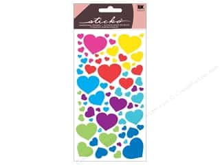 EK Success Valentine's Day Gifts: EK Sticko Stickers Metallic Fun Colorful Hearts