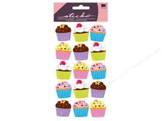 Party & Celebrations inches: EK Sticko Stickers Vellum Bright Cupcakes