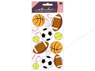 EK Sticko Stickers Metallic Popular Sports Balls