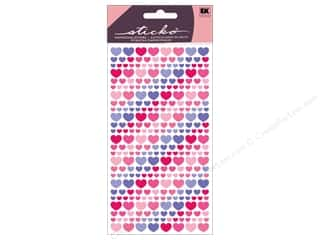 Want 2 Scrap Valentine's Day Gifts: EK Sticko Stickers Vellum Purple And Pink Hearts
