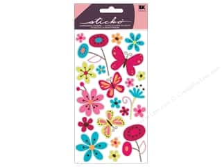 EK Sticko Stickers Glitter Butterfly Garden