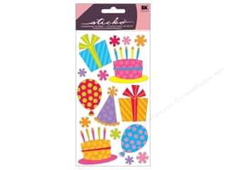 Books Birthdays: EK Sticko Stickers Glitter Fun Party And Balloons