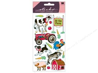 Earrings Gifts: EK Sticko Stickers Farm Animals