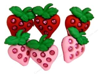 Fruit & Vegetables Back To School: Jesse James Dress It Up Embellishments Strawberry Fields