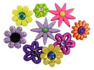 Craft Embellishments Flowers: Jesse James Dress It Up Embellishments Flower Power