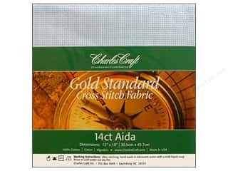 Aida Cloth: Charles Craft Gold Standard Aida 12x18 14ct Lt Blu