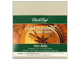 Cross Stitch Cloth / Aida Cloth: Charles Craft Gold Standard Aida 12x18 14ct Platnm