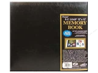Pioneer Scrapbook 12&quot;x12&quot; Leatherette Black