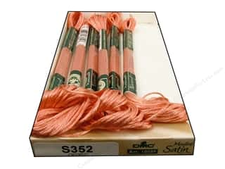 DMC Floss: DMC Satin Embroidery Floss #S352 Delicate Salmon (6 skeins)
