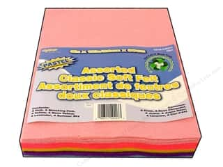 "felt: CPE Soft Felt 9""x 12"" Assorted Pastel 25pc"
