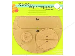 Omnigrid Rotary Cutting: Omnigrid Templates Flip N Cut Magic Set 1