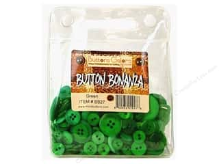 Sew-on Buttons: Buttons Galore Button Bonanza 1/2 lb. Green