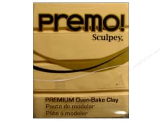 Clay Cream/Natural: Premo! Sculpey Polymer Clay 2 oz. Ecru