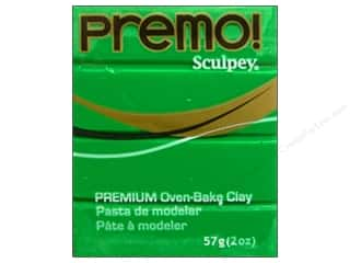 Clay Art Accessories: Premo! Sculpey Polymer Clay 2 oz. Green