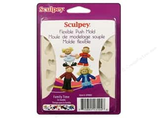 Push Pins Art, School & Office: Sculpey Flexible Push Mold Family Time