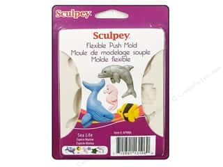 Molds Mold Release: Sculpey Flexible Push Mold Sea Life