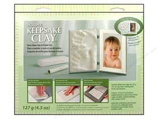 Clay & Modeling $3 - $4: Sculpey Keepsake Frame Sets Clay Kit White
