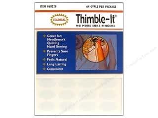 Colonial Needle Sewing Construction: Colonial Thimble-It Finger Pads Adhesive thimble