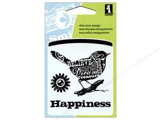 Rubber Stamping Inkadinkado InkadinkaClings Clear Stamps: Inkadinkado InkadinkaClings Clear Stamp Mini Bird