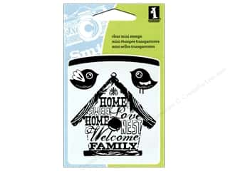 Clearance Plaid Stamps Clear: Inkadinkado InkadinkaClings Clear Stamp Mini Birdhouse
