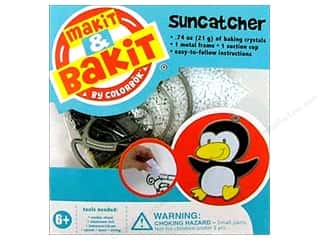 Suction Cups Framing: Colorbok Makit & Bakit Suncatcher Kit Penguin