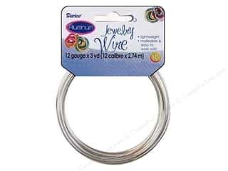 Beading & Jewelry Making Supplies: Darice Jewelry Wire Aluminum 12Ga Silver 3yd