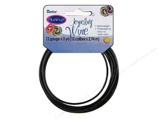 Wire Black: Darice Jewelry Wire Aluminum 12Ga Black 3yd