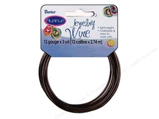 Yard Sale Darice Jewelry Wire: Darice Jewelry Wire Aluminum 12Ga Brown 3yd