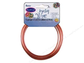 Beading & Jewelry Making Supplies Darice Jewelry Wire Aluminum: Darice Jewelry Wire Aluminum 12Ga Copper 3yd